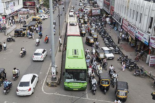 Scania´s bioethanol bus in Nagpur is the first one in India