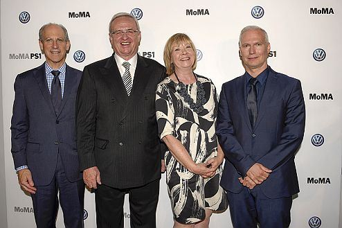 Volkswagen Group, the Museum of Modern Art, and MoMA PS1 announce expansion of long-term partnership: from left to right: Glenn D. Lowry, Director, MoMA; Prof. Dr. Martin Winterkorn, Chairman of the Board of Directors, Volkswagen Group of America, Inc.; Wendy Woon, The Edward John Noble Foundation Deputy Director for Education, MoMA; Klaus Biesenbach, Director, MoMA PS1, and Chief Curator at Large, MoMA