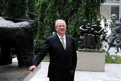 Prof. Dr. Martin Winterkorn, Chairman of the Board of Management of Volkswagen Aktiengesellschaft, in the Sculpture Garden - Museum of Modern Art (MoMA) in New York